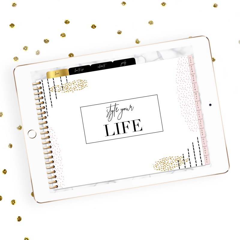 style your life planner, digital planner, digital planning, goodnotes, goodnotes 5, contemporary digital planner, jen shannon, jen shannon digital planners