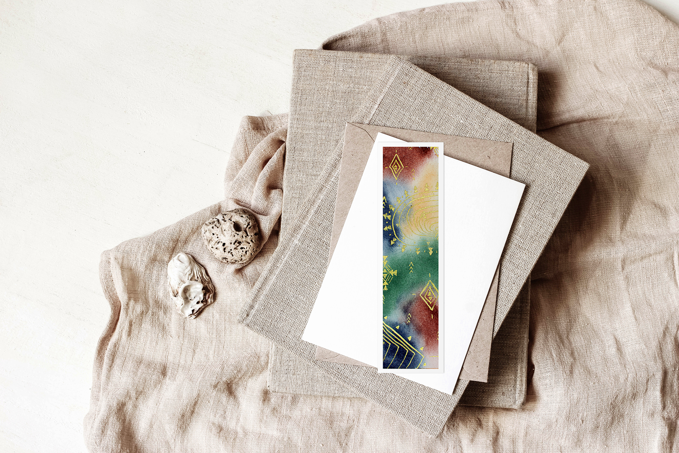 watercolor bookmark, jen shannon, jen shannon artist, watercolor artist, watercolor bookmark art