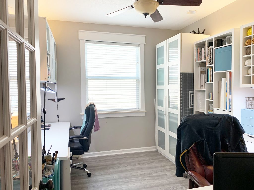 Art Studio Makeover - His and Her Joint Office with Ikea Furniture