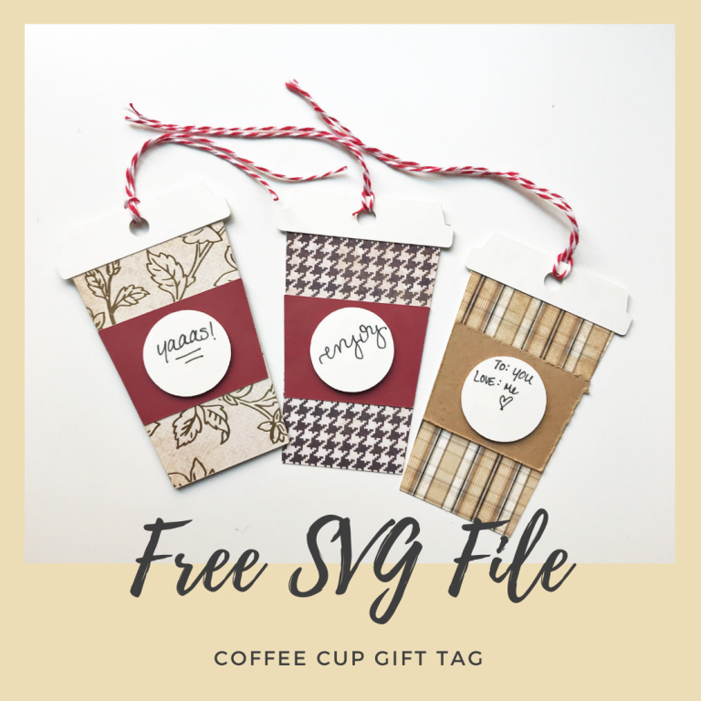 Coffee Cup Gift Tag SVG